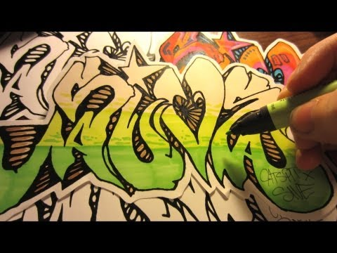 Screen Printing Paper Graffiti Stickers And Tee Shirts By SIVE