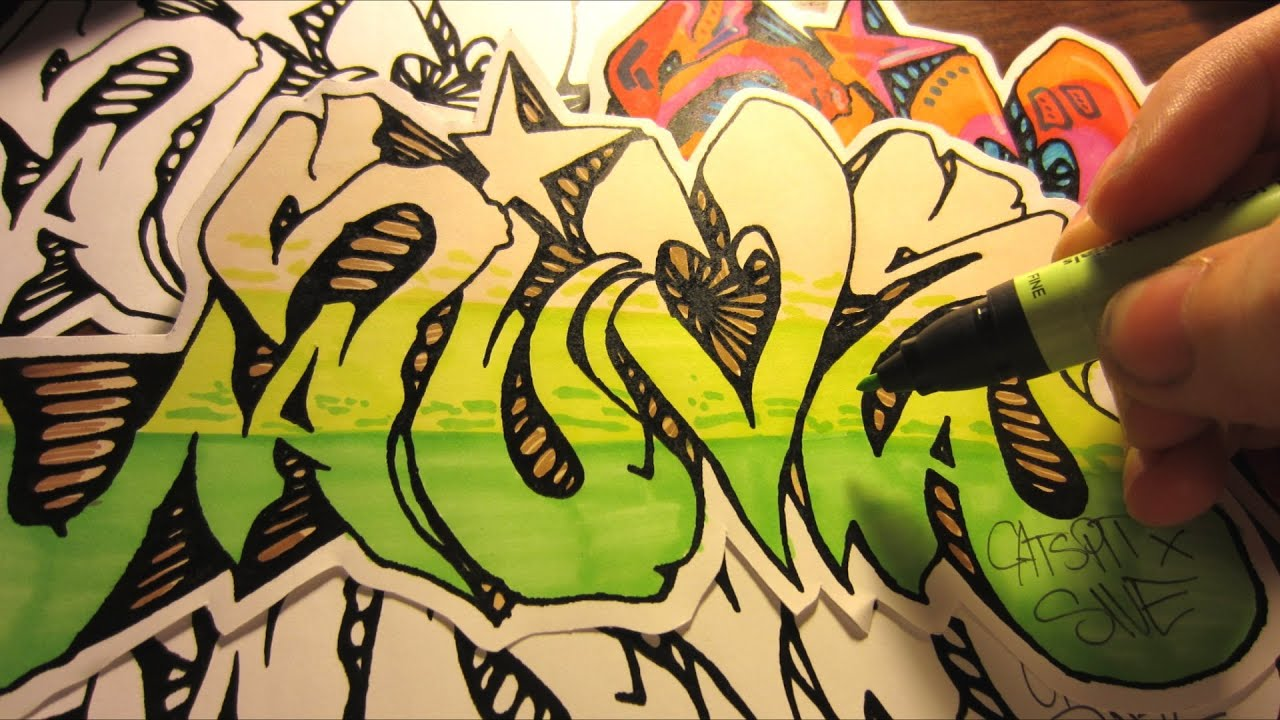screen printing paper graffiti stickers and tee shirts by sive youtube