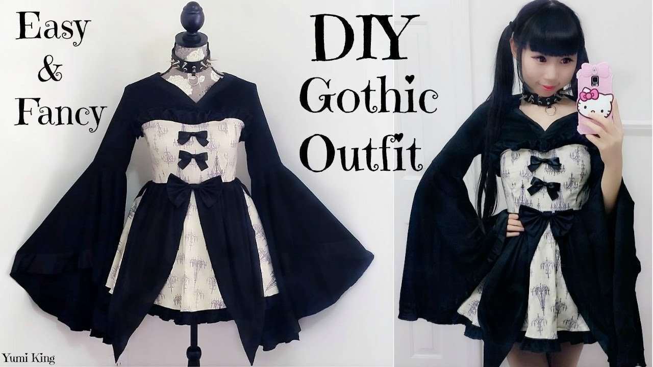easy diy gothic/emo inspired outfit/dress + back to school outfits
