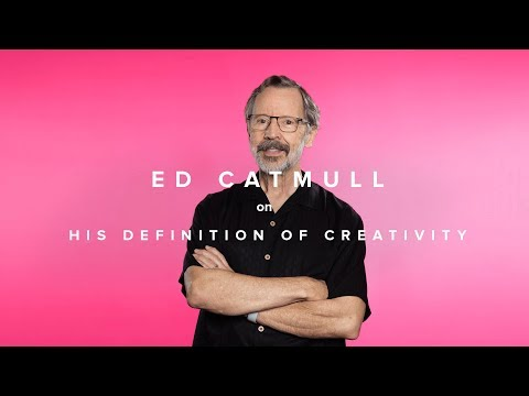 Ed Catmull on his definition of creativity