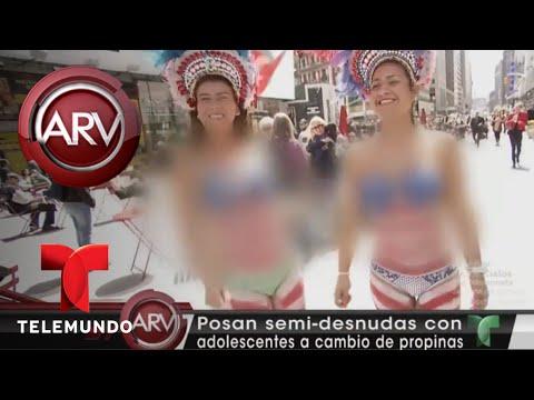 Hispanas Semi Desnudas Se Toman Fotos Con Menores | Al Rojo Vivo | Telemundo