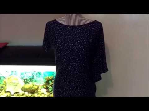 Платье с рукавом воланом сшить без выкройки