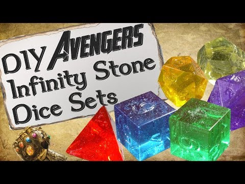How to Make Your Own Dice | Avengers Infinity Stone Set
