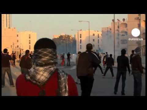 Bahraini protesters clash with police