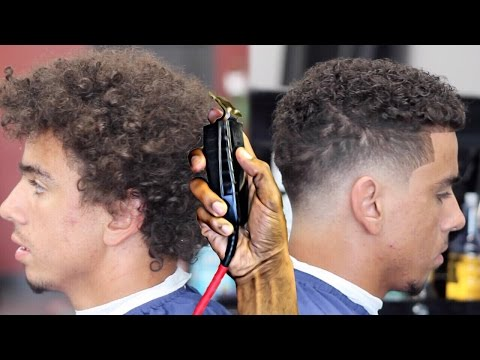 Haircut Tutorial Transformation Curly Top Blurry Fade
