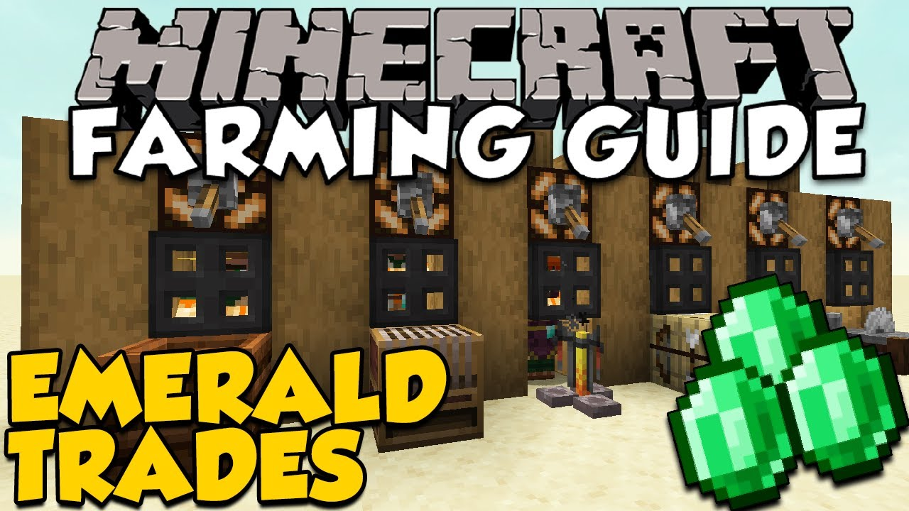 The BEST Villager Trades For Farming Emeralds  Minecraft Farming Guide