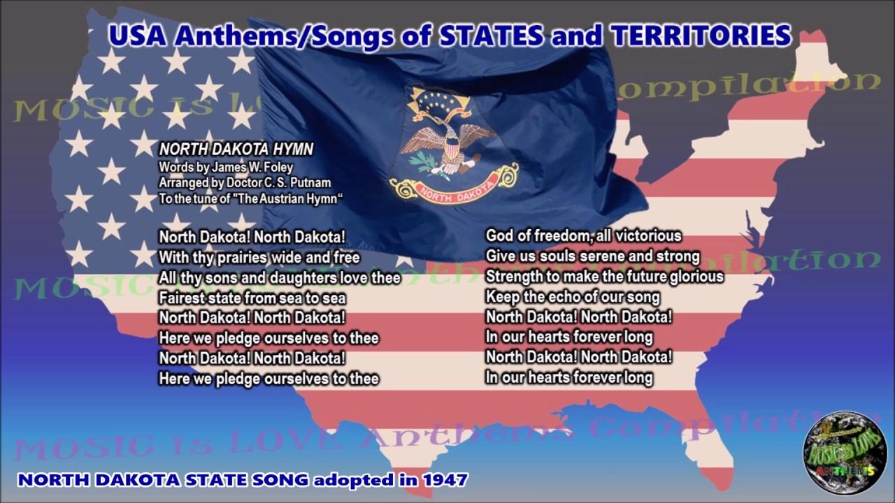 North Dakota State Song NORTH DAKOTA HYMN with music ...