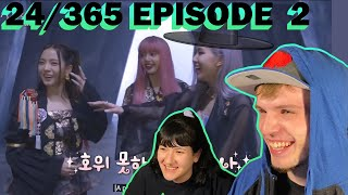 BLACKPINK 24/365 EPISODE 2 (COUPLE REACTION!) | CHAELISA COME UP WITH A LEVEL 10 PATTY CAKE ROUTINE