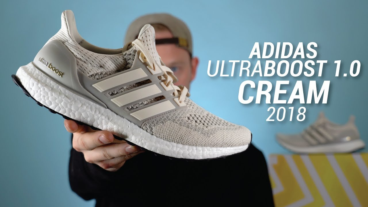 bd4409d909c24 Adidas Ultra Boost 1.0 Cream 2018 Restock Review   On Feet - YouTube