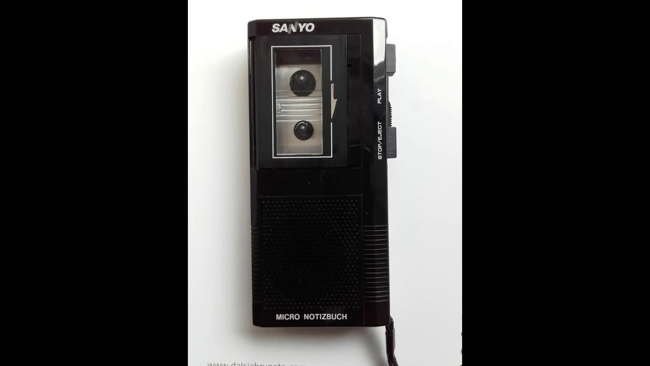 Vintage Dictaphone Sanyo Model No  MN1000