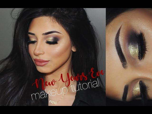New Years Eve Makeup Tutorial | HUDABEAUTY Smokey Obsessions Palette | Nadia Maya
