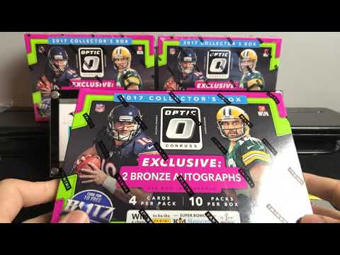 3 2017 optic Football Collector Boxes! 6 Hits!