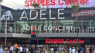 ADELE Concert at Staples Center VLOG 080916