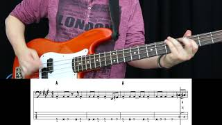 Kenny Loggins - Footloose (Bass cover with tabs)