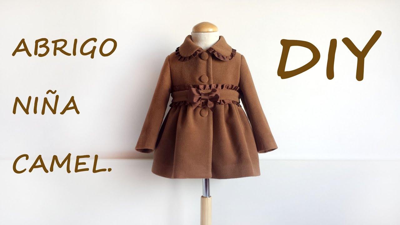 Como hacer un abrigo de niña camel. Patrones y moldes ropa infantil ...