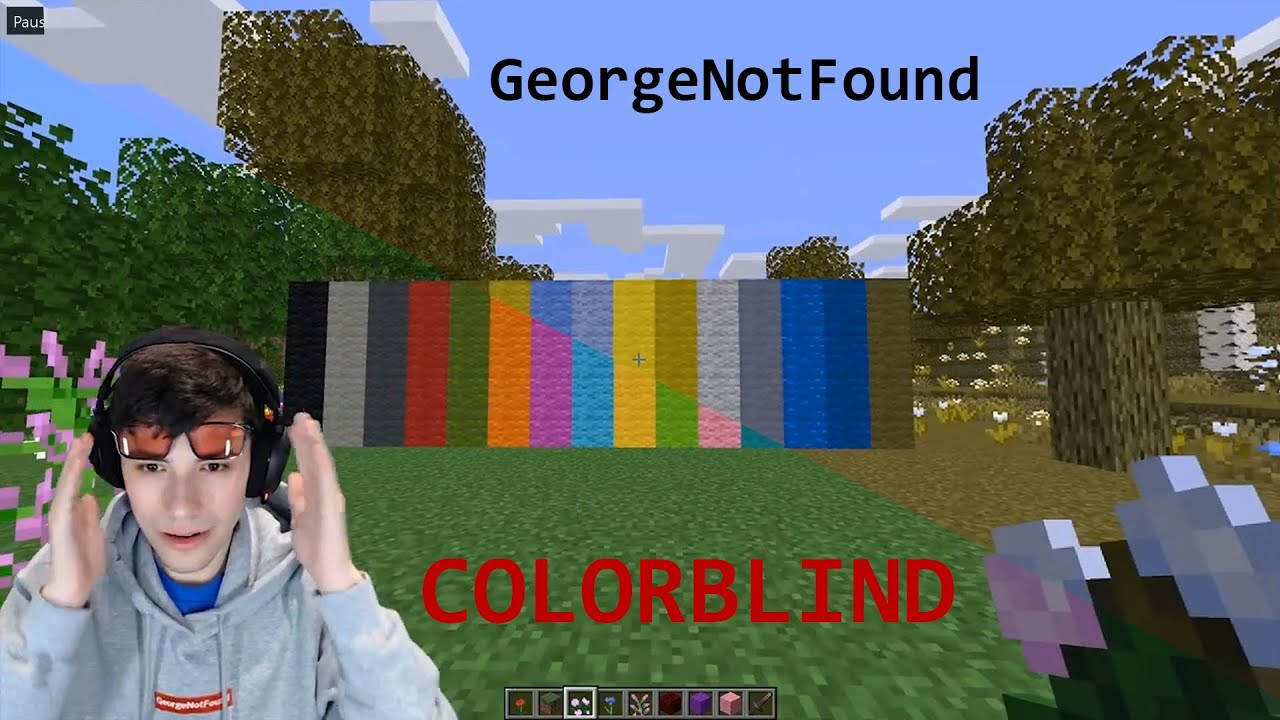 GeorgeNotFound Colorblind Glasses but YOU Have his Vision - YouTube
