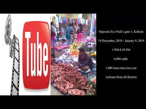 Handicraft Fair In Kolkata Hastashilpa Mela 2018 19 Youtube