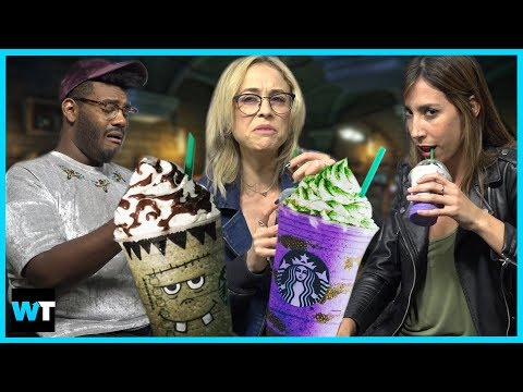 We Try the NEW Starbucks HALLOWEEN Drinks!!