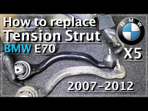 How to replace bad tensioner control arm on BMW X5 E70 / DIY