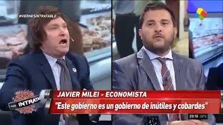 Milei vuelve a Intratables y se cruza con Brancatellli- 22/02/19