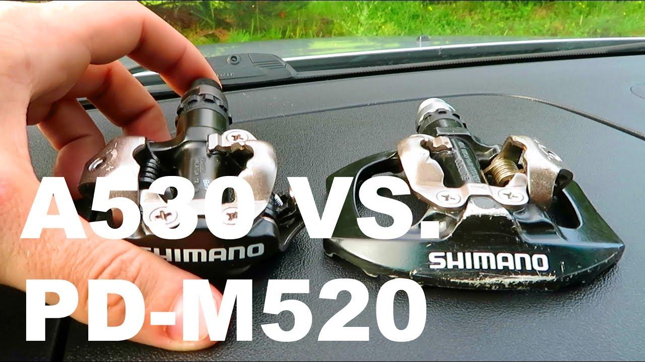 404e8609c04 Shimano A530 VS. PD-M520 - YouTube