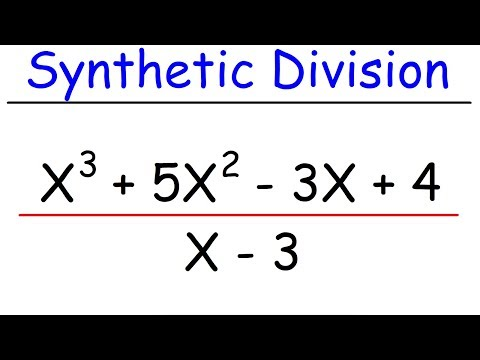 How To Use Synthetic Division On Any Polynomial!