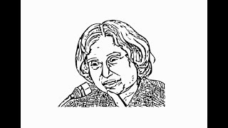 """How to draw """"APJ Abdul kalam azad Face"""" pencil drawing step by step"""