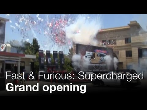 Fast & Furious: Supercharged Grand Opening - Universal Studios Hollywood