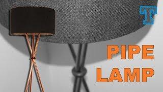 Homemade  | Modern Copper Pipe Floor Lamp