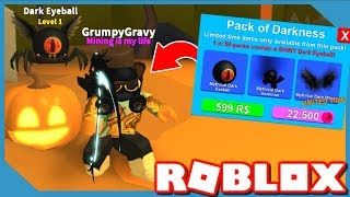 I BOUGHT THE NEW *HALLOWEEN* DARKNESS PACK in ROBLOX MINING SIMULATOR UPDATE