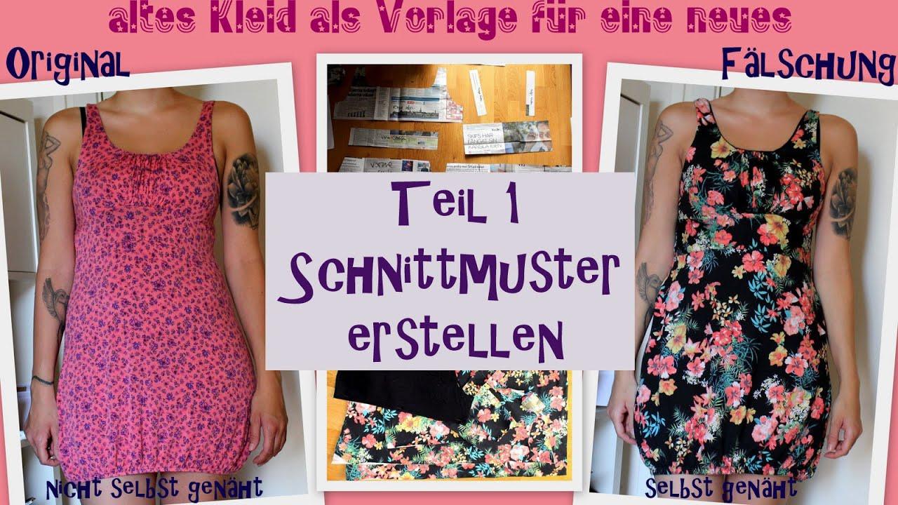 DIY Kleid selbst nähen - altes Kleid als Vorlage für ein neues ...