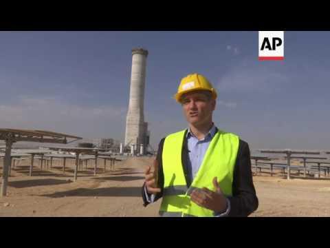 Massive solar tower plant built in the Negev Desert