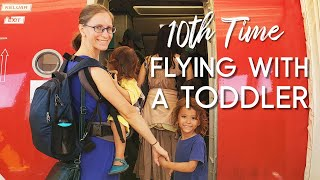 Flying With A One Year Old Toddler On Your Lap: Tips, Vlog