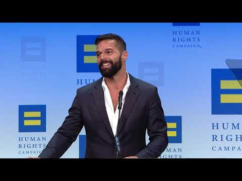 Ricky Martin at the 23rd Annual HRC National Dinner
