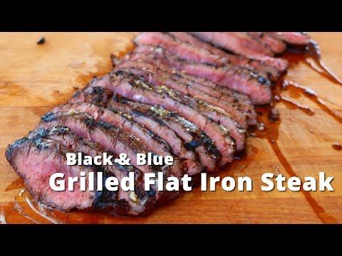 Grilled Flat Iron Steak | Black & Blue Flat Iron Steak on Kong Grill