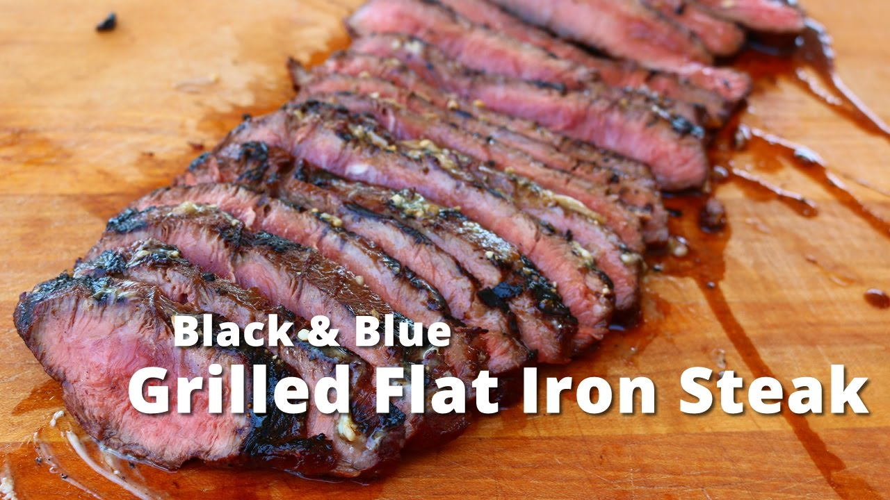 Grilled Flat Iron Steak Black Blue Flat Iron Steak On Kong Grill