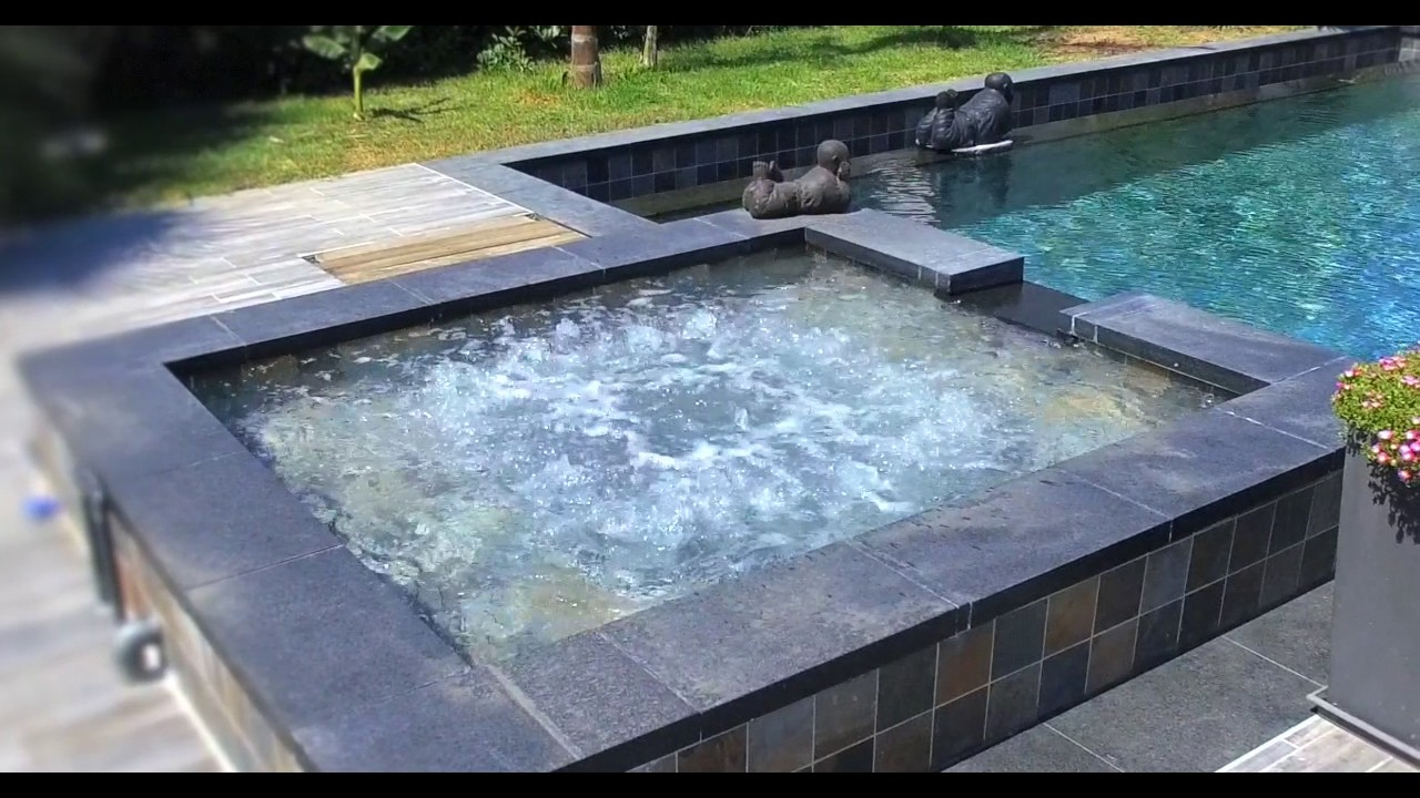 carostyl piscine en carrelage green bali youtube