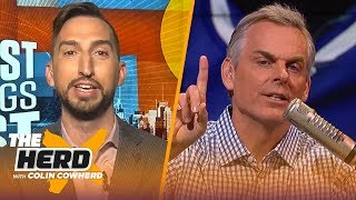 Rockets are 3rd best in NBA, talks Embiid's sprain & Brady leaving Pats — Nick Wright | THE HERD