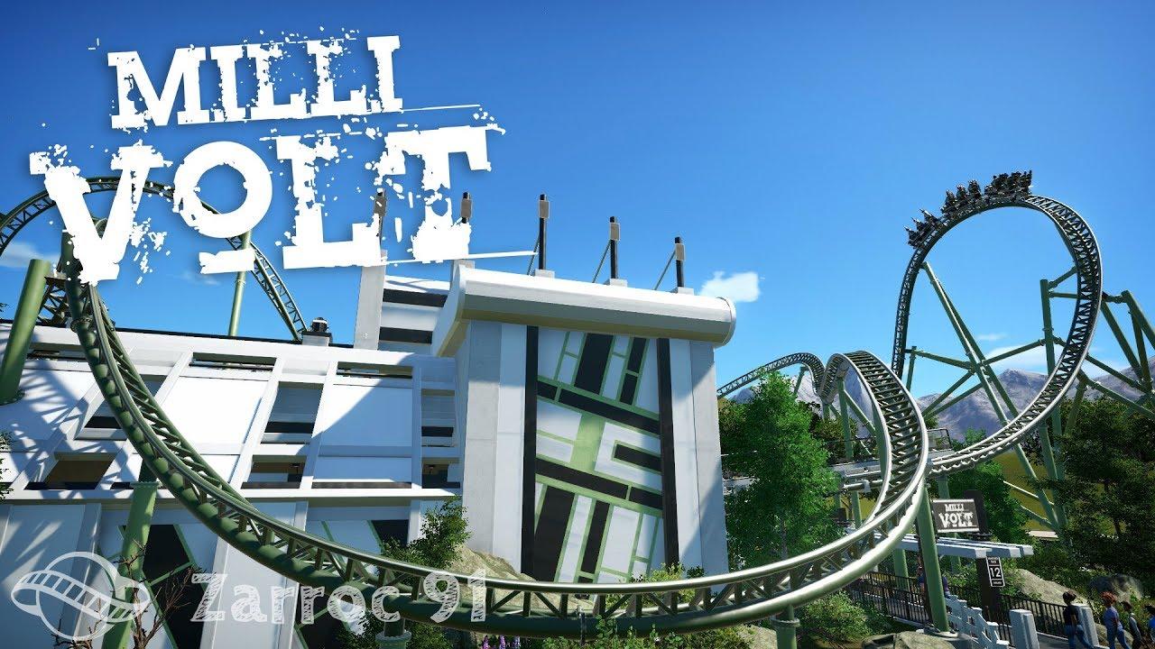 Millivolt 4k Blueprint Version Of Volt Planet Coaster Pov Youtube