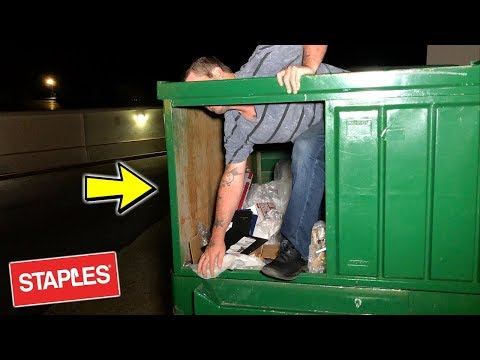 I FOUND THEIR HIDING SPOT! DUMPSTER DIVE NIGHT #319