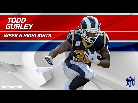 Todd Gurley's Great Game w/ 23 Carries & 116 Yards! | Rams vs. Jaguars | Wk 6 Player Highlights