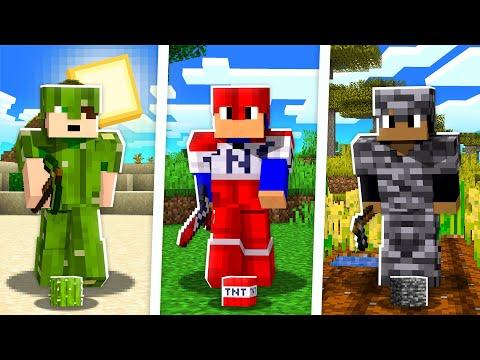 Minecraft MAS temos ARMADURAS de BLOCOS diferentes! 🤩
