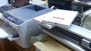 طريقة الطباعة على الأقمشة الغامقة باستخدام الورق بلانك و برو 90