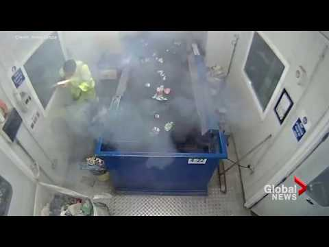 Waste worker's close call with exploding flare a helpful reminder of what can't be recycled