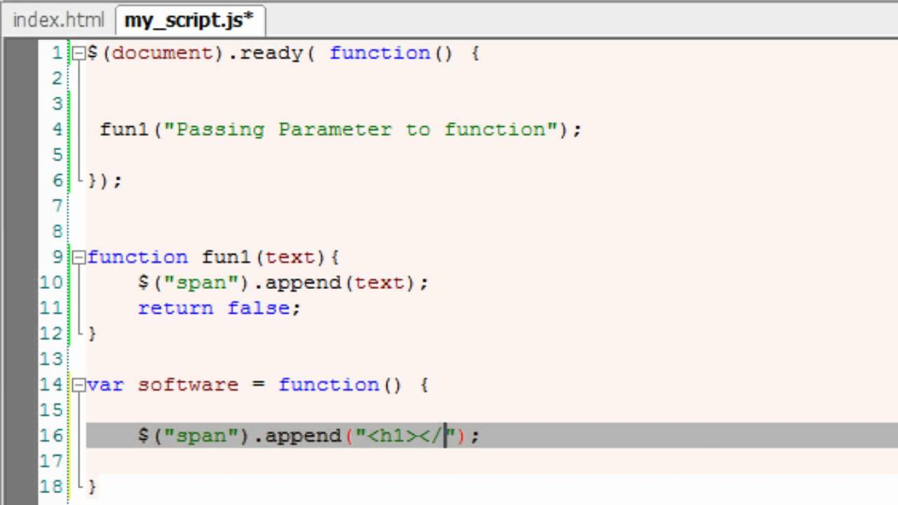 Create custom function in jquery
