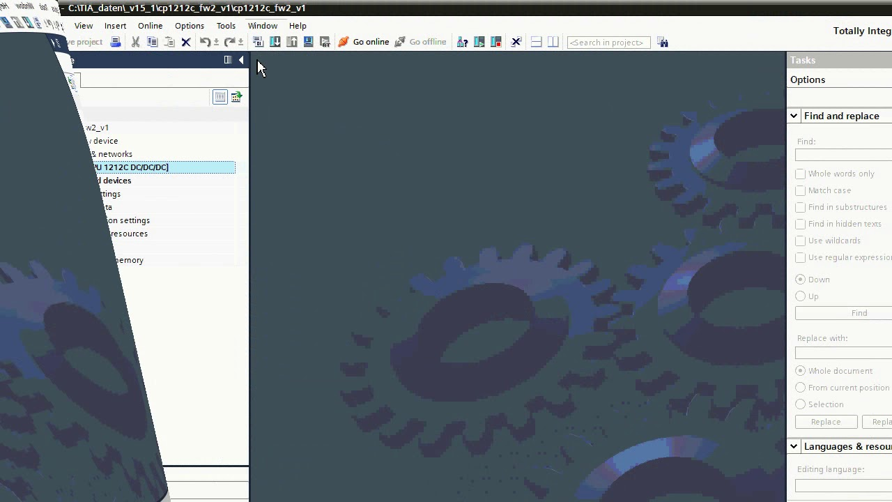 TIA Portal upgrade projektu / Project upgrade from TIA Portal V13+SP1 to  V15 1 and download to CPU