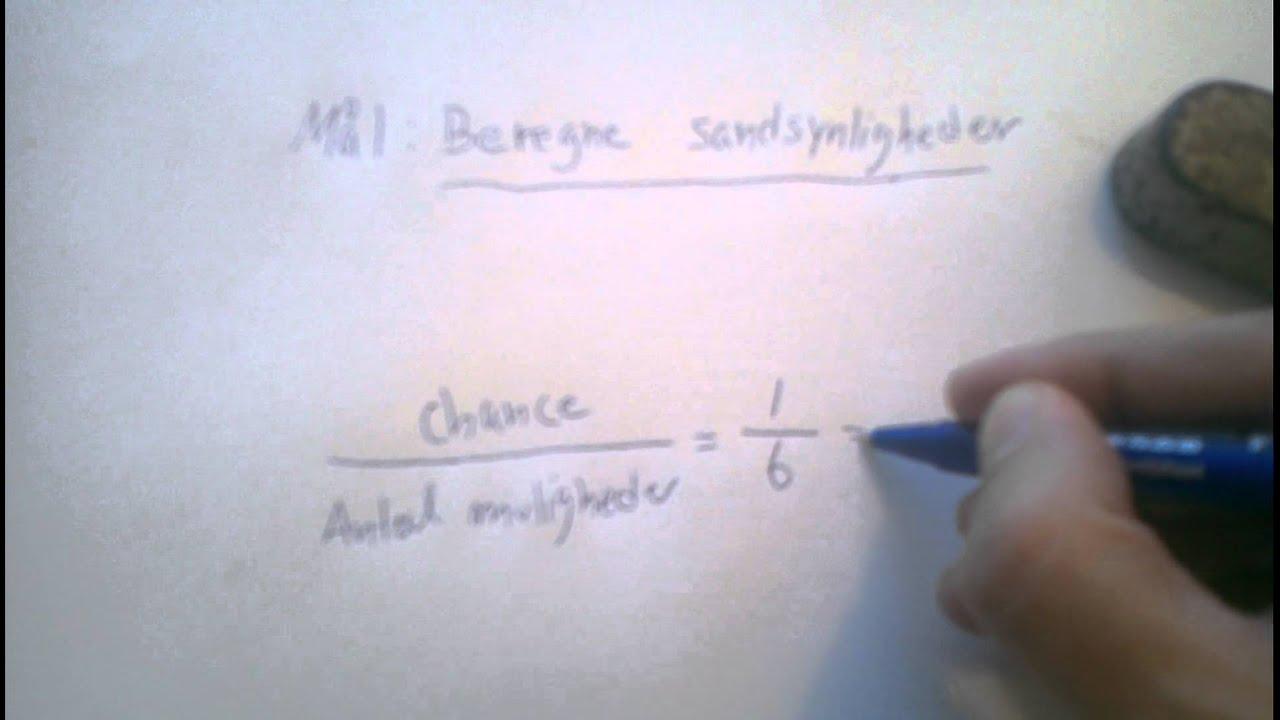 Lektie til mandag d.5 maj sandsynlighedsregning