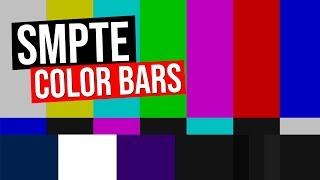 SMPTE COLOR BARS & TONE | Bars Ultra HD 4K 4960 x 2304 1000 hz audio tone
