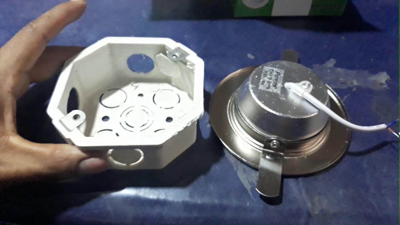 para luz watts octogonal Unboxing caja empotrable led 7 mN8wOynv0P