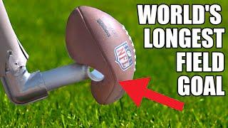 World's Longest Field Goal Robot vs NFL Kicker